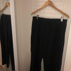Stretch Waistline Striped Pants